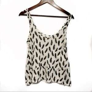 H&M Conscious Feather Tank Size Small